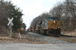 CSX 848 and train Q438